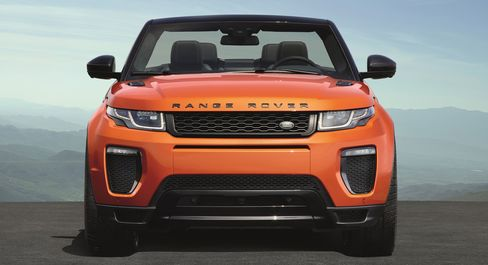 The 2016 Range Rover Evoque Convertible has a 240hp, four-cylinder engine.