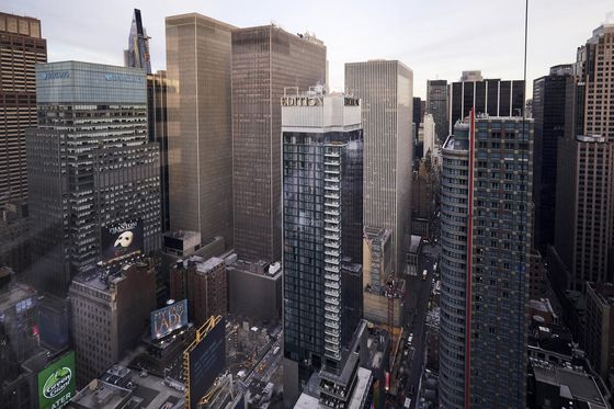Loan on Land Under Troubled Times Square Hotel Pitched for Sale