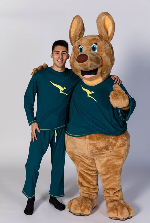 Qantas's Olympic-themed PJs. (Kangaroo not included.)