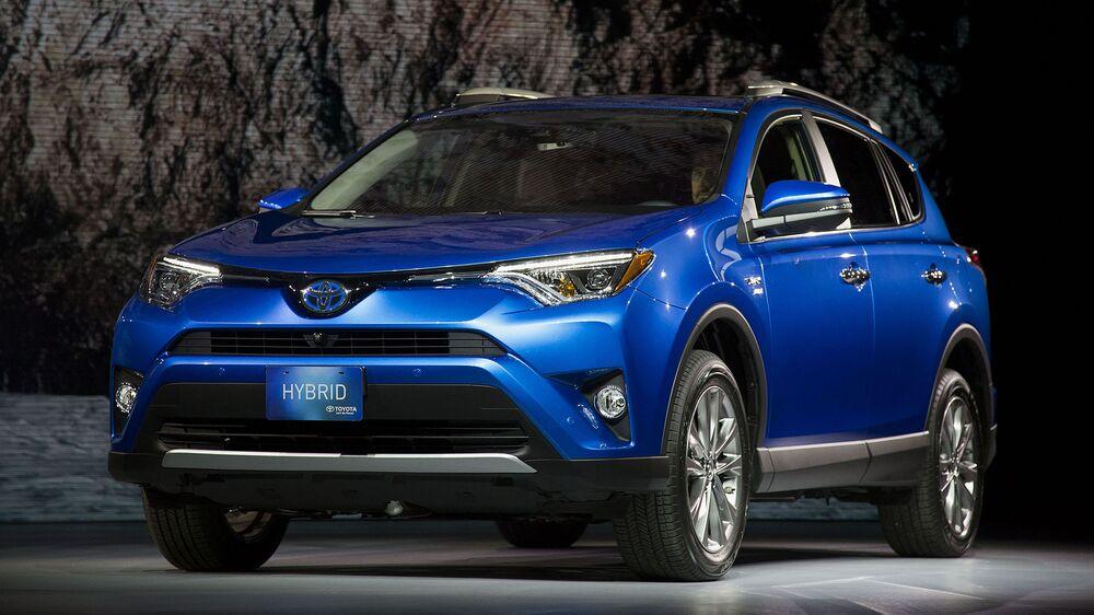 The 2016 Toyota Rav4 Hybrid Sport Utility Vehicle