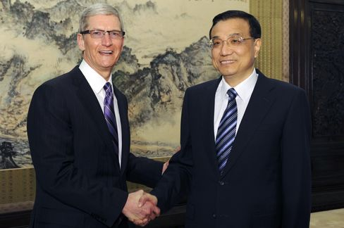Apple's Cook Meets China's Vice Premier
