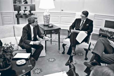 Stockman with Reagan in October 1981