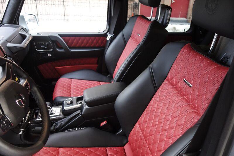 the interior - White G Wagon Red Interior