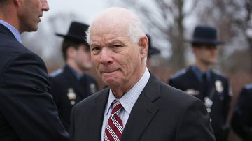 U.S. Sen. Benjamin Cardin (D-MD) leaves after he spoke during a news conference March 24, 2015 on Capitol Hill in Washington, DC.