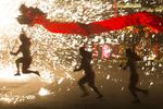 Chinese People Celebrate Spring Festival