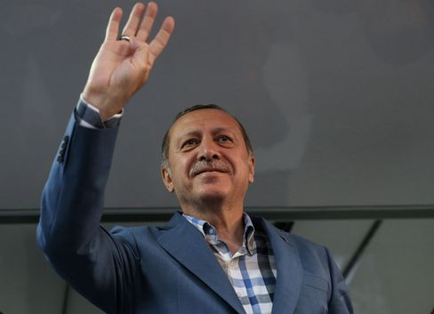 Turkish President Recep Tayyip Erdogan addresses citizens outside his residence at Kisikli Neighborhood following the failed coup attempt.