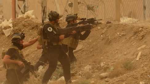 Fighting During Sand Storm in Ramadi