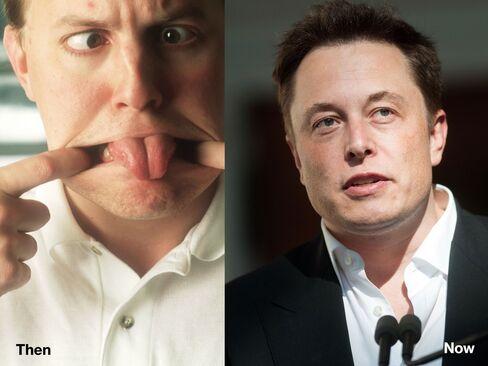 L-R: Marc Andreessen, 1996; Elon Musk, 2014