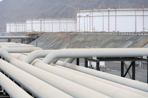Oil Pipes and Storage Silos in Fujairah