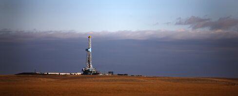 Oil Rig Stands on the Bakken Formation