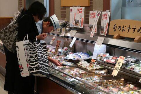 高島屋日本橋店で売られる「超速鮮魚」