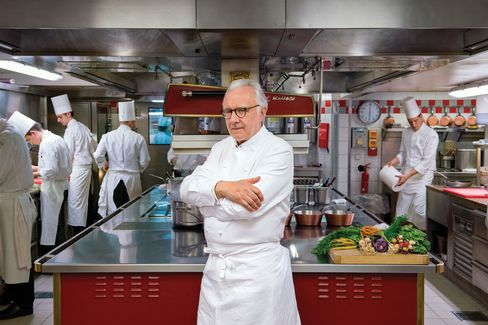 """""""Red meat is over—red meat isfinis!"""", saysChef Alain Ducasse."""