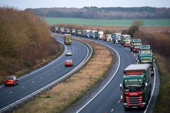 Britain Stages Mass Truck Jam to Prepare for No-Deal Brexit