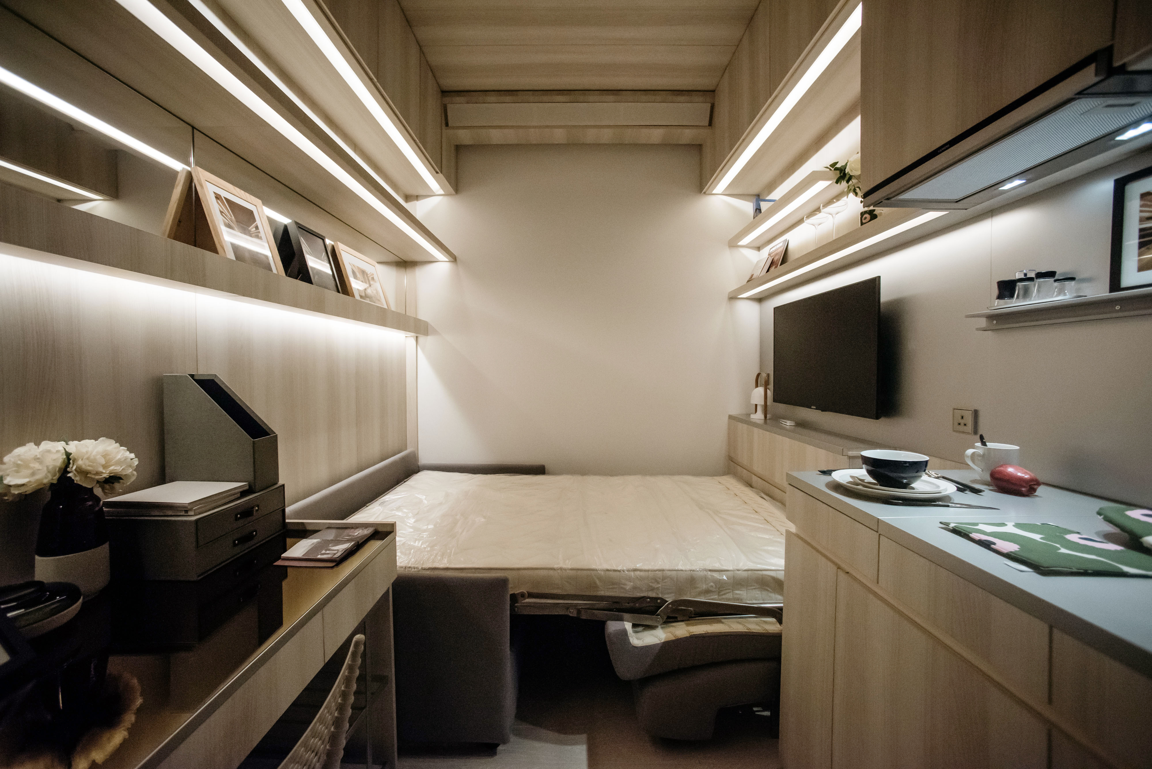 Prison Cell Flats in Hong Kong Show Limits of Home Supply Policy