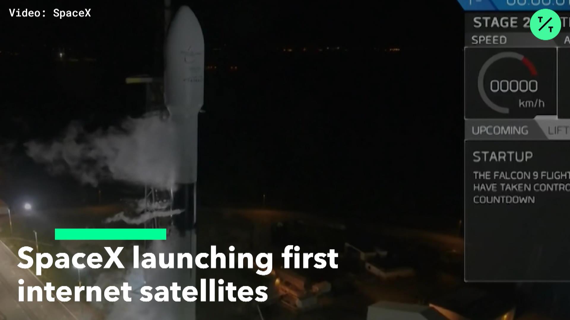 SpaceX Launching Internet Satellites - Bloomberg