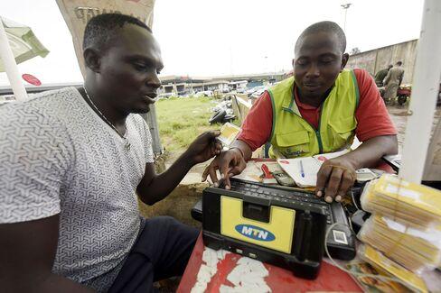 An MTN Registers a SIM card in Lagos.