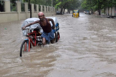 Floodwaters in Chennai