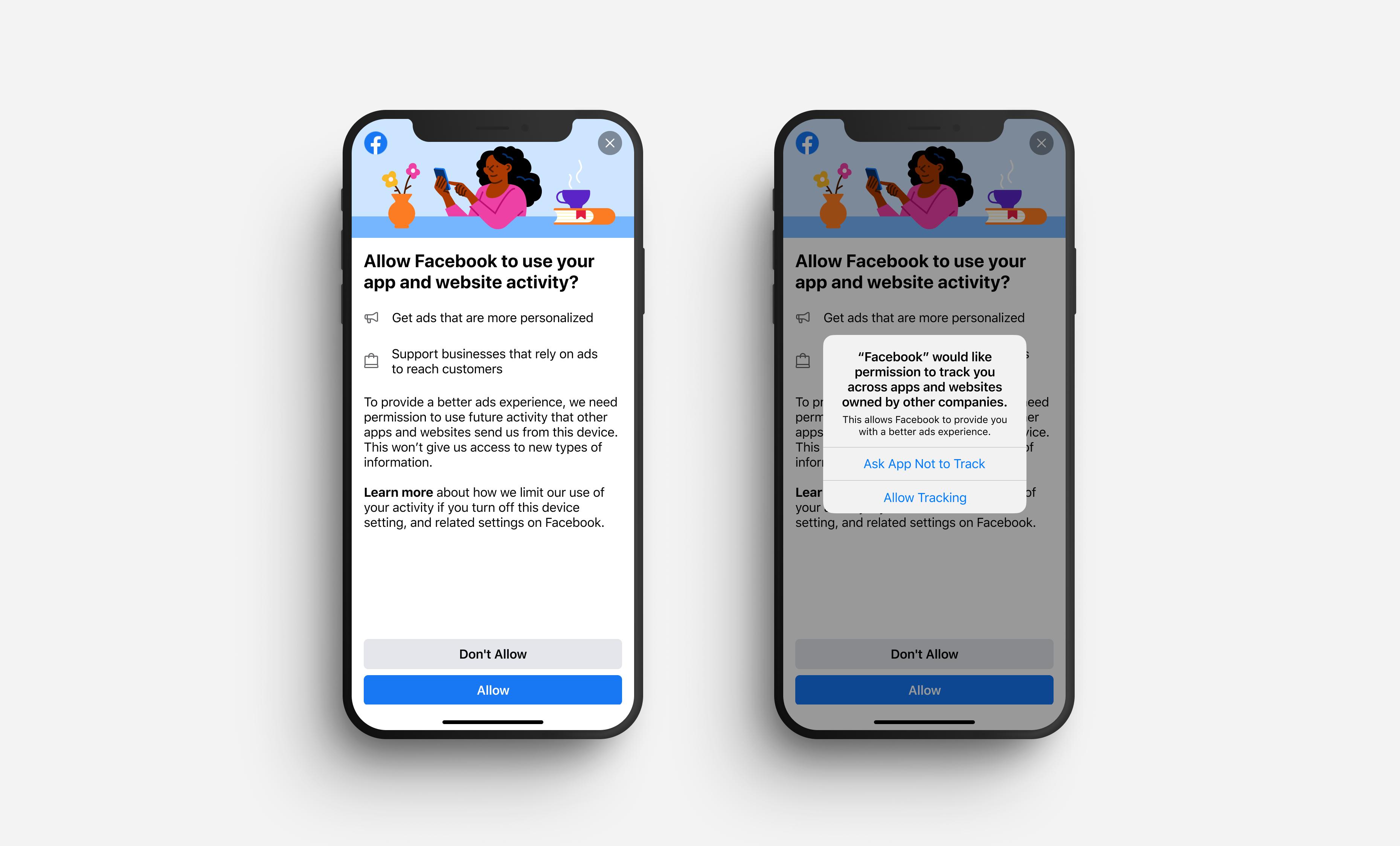 Facebook montrera aux utilisateurs d'iPhone une invite expliquant sa collecte de données avant une autre similaire d'Apple.