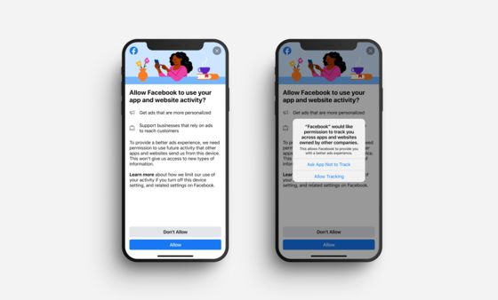 Facebook Tests Pop-Up for iPhone Users Before Ad Tracking Update