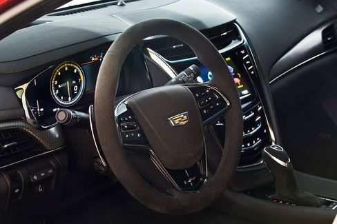 The interior of the CTS-V looks cool but can be distracting to use.