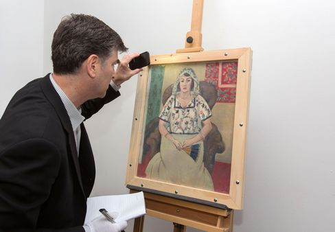 Christopher Marinello With The Recovered Painting