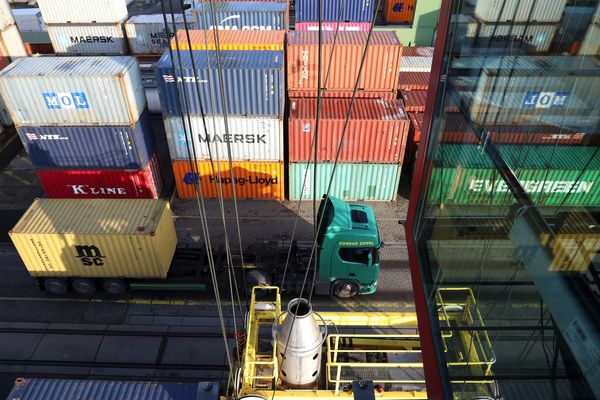 Rail And Container Shipping Operations At Berlin's Behala Inland Port