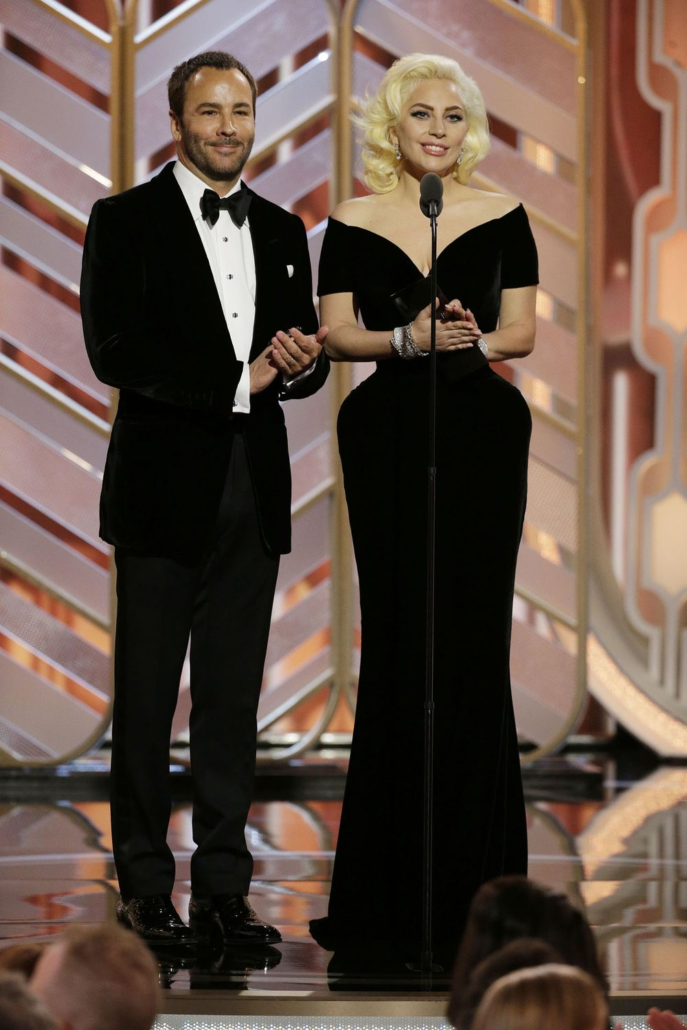 3b13e0016d99 NBC s  quot 73rd Annual Golden Globe Awards quot  - Show. Presenters Tom  Ford ...