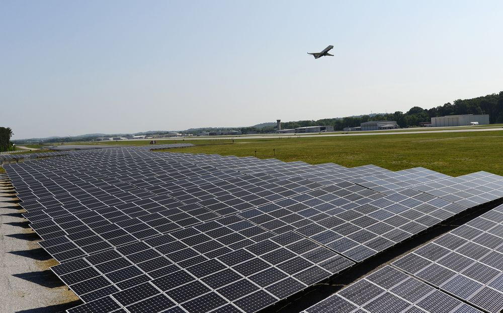 The First Solar-Powered U.S. Airport Is in City Once Called 'Dirtiest'