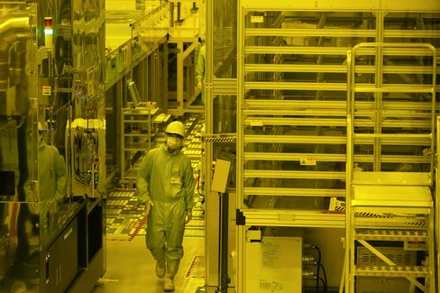 Production Line At Japan Display's Mobara Plant