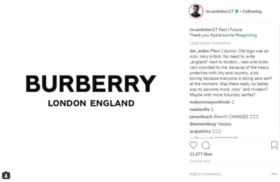 Burberry Is Changing Its Logo for First Time in Two Decades