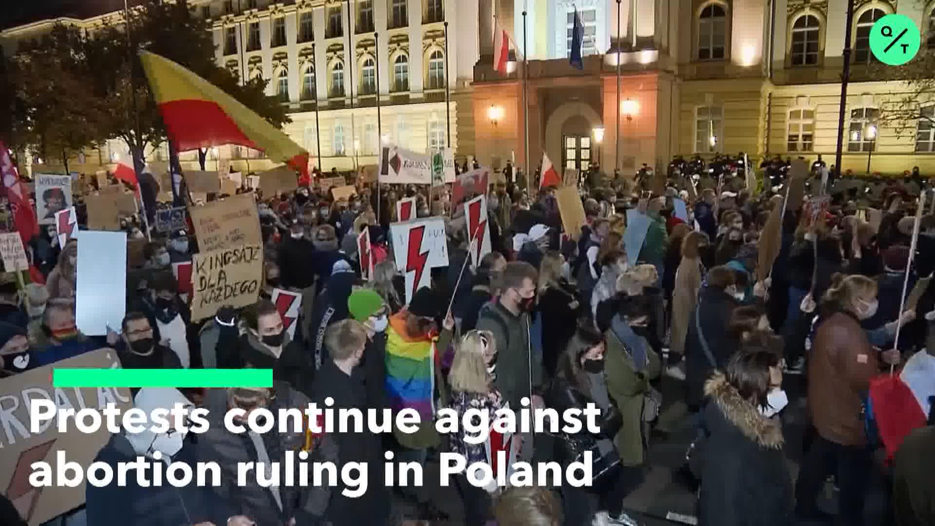 Poland Protests Against Abortion Ruling