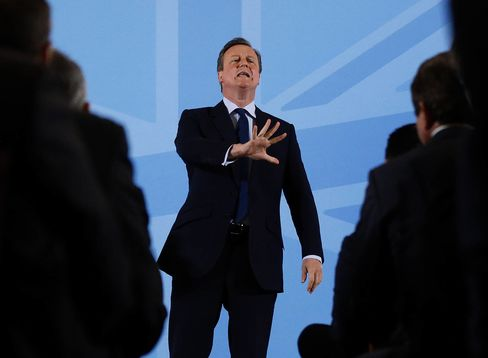 David Cameron Speaks To A London Business Audience