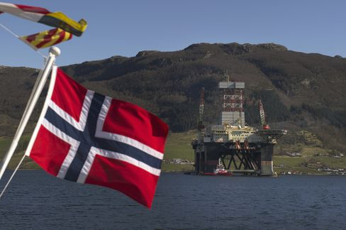 Oil Rig in Norway