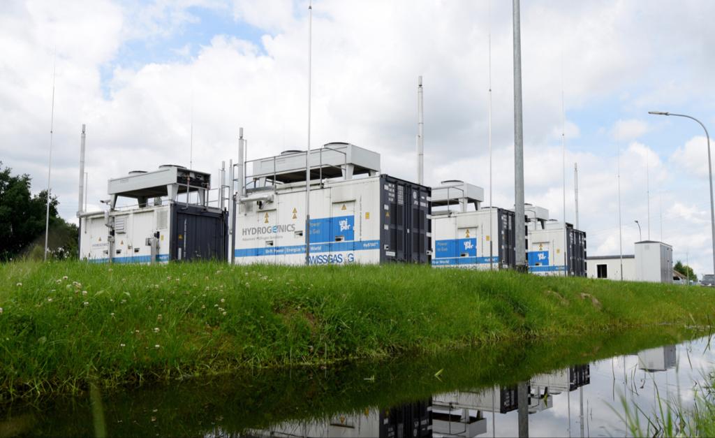 Uniper's green hydrogen facility in Falkenhagen, in Germany.