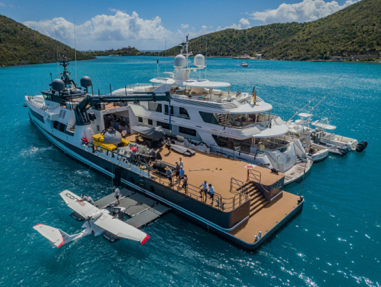 bloomberg.com - Devon Pendleton - A $50 Million Boat for the Toys You Can't Fit on Your Yacht