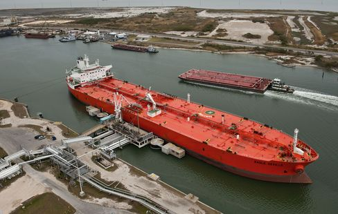 A Tanker Discharges In Texas