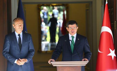 Ahemet Davutoglu and Donald Tusk