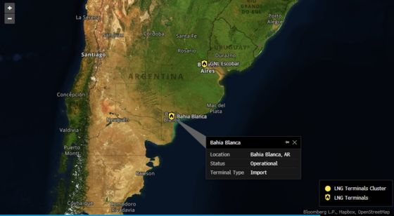 Argentina Plans toCloseLNG Facility as Shale Output Ramps Up
