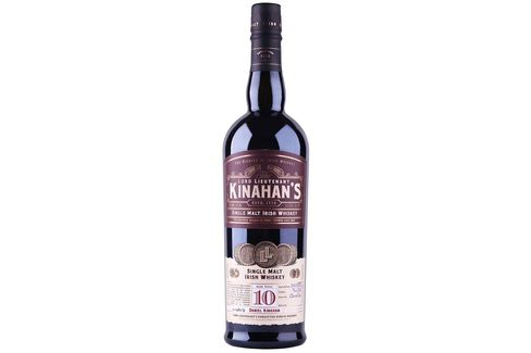 Kinahan's Single Malt Irish Whiskey is surprisingly light at 10 years.