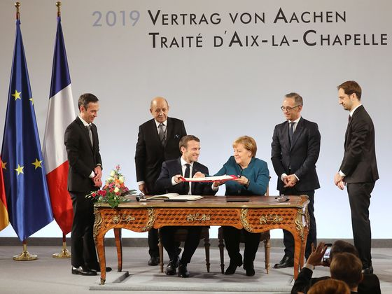 French-German Treaty Is in Service of European Unity, Macron Says