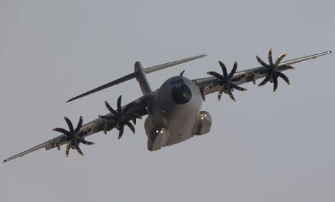 An Airbus A400M Military Plane