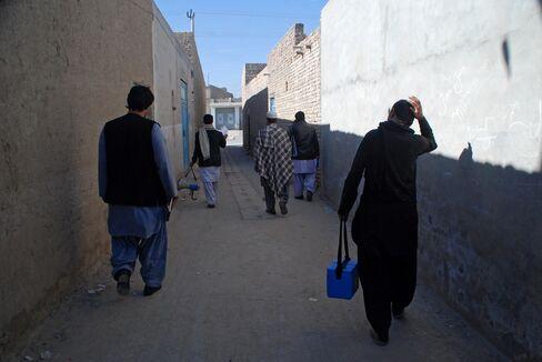 A polio team in Kandahar