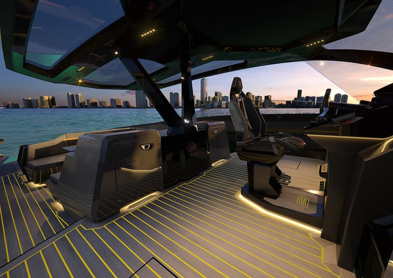 relates to Lamborghini's New $3.4 Million Yacht Has Splashy Supercar DNA