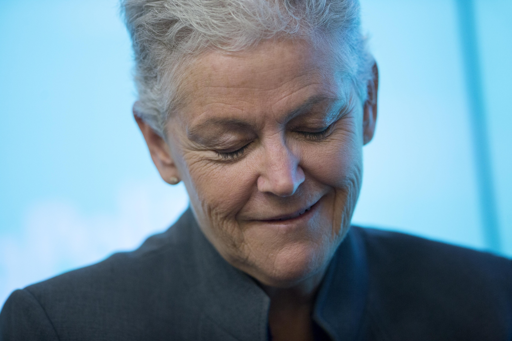 Gina McCarthy during a Bloomberg Politics discussion in Washington in 2015. The EPA administrator at the time spoke about how President Obama's Clean Power Plan would survive even if a Republican president were elected in 2016.
