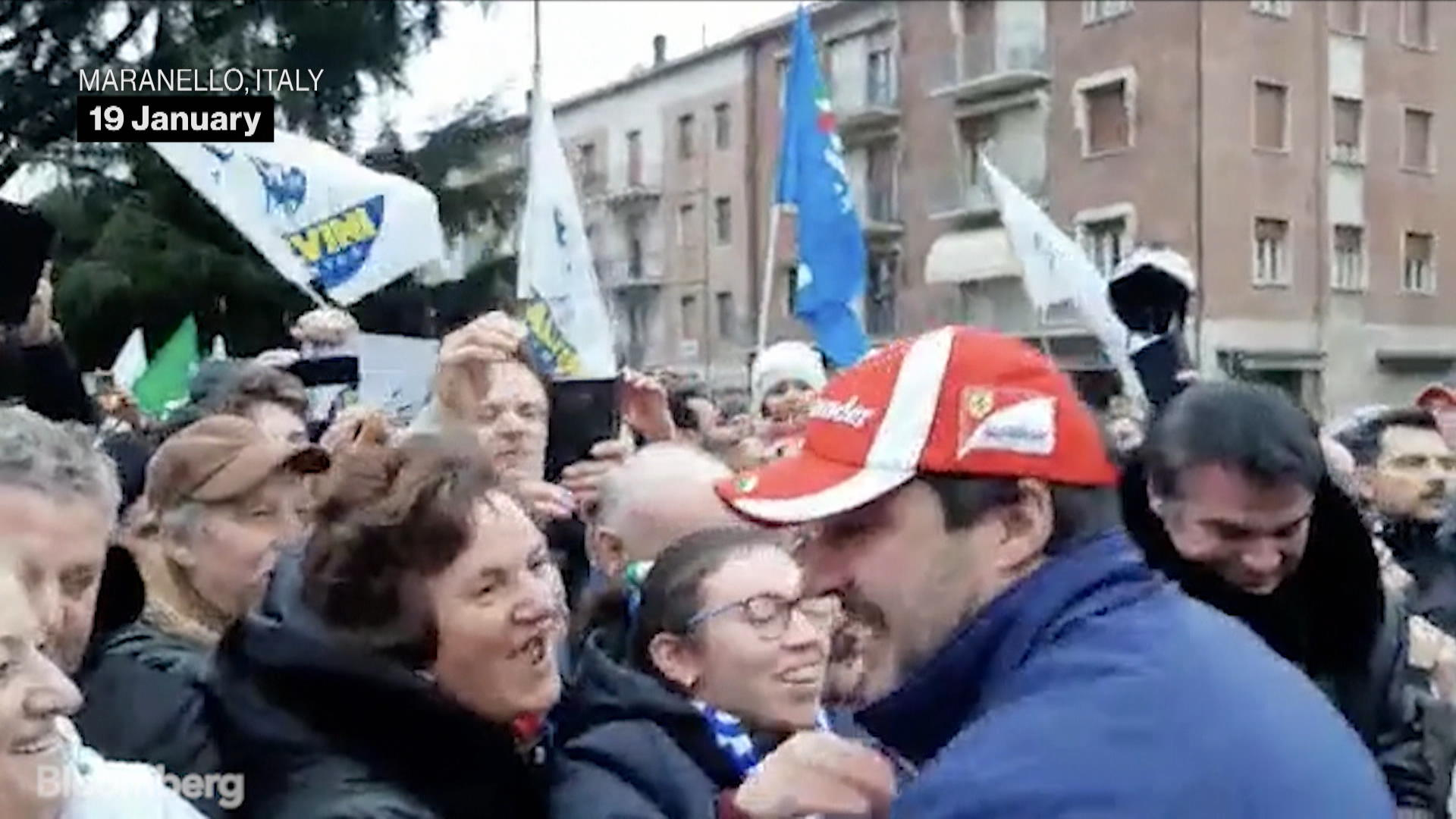Matteo Salvini, Italy League Party Leader, Greets Supporters Ahead of Emilia-Romagna Regional Vote