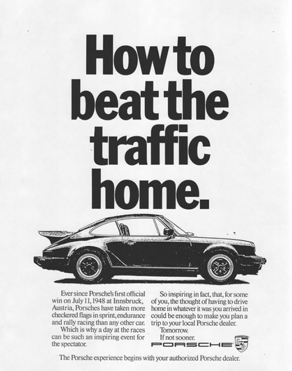 The Best Car Ads Of The S Bloomberg - Vintage porsche dealer