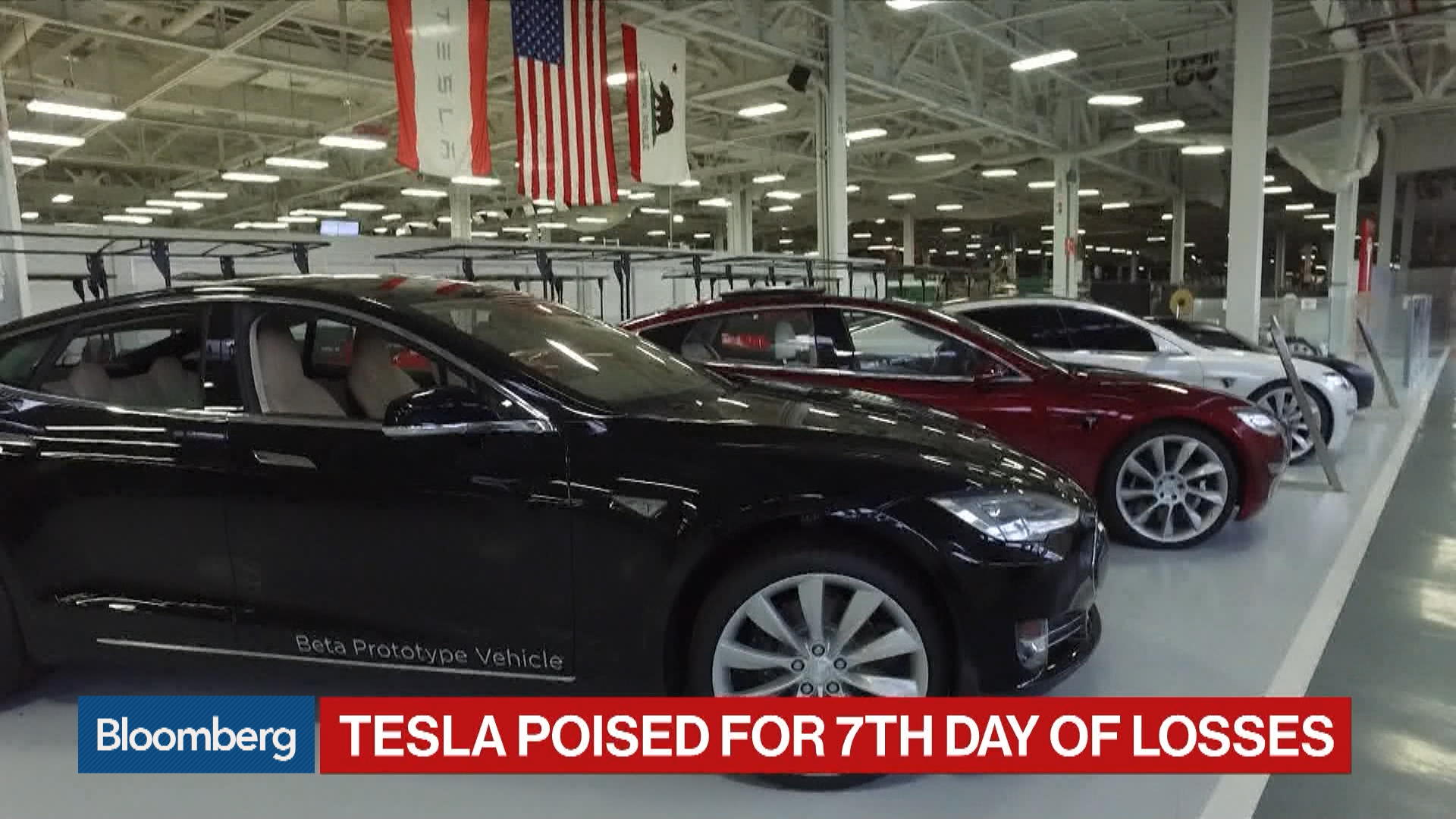 Tesla Poised for Seventh Day of Losses on Demand, Trade Concerns