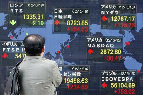 Asian Stocks Decline as U.S., Japan Data Fuels Growth Concern