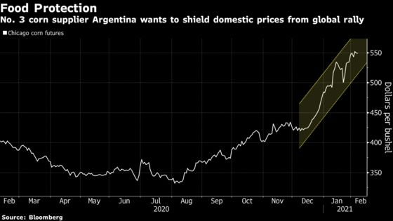 President Threatens to Raise Taxes on Farm Exports in Argentina