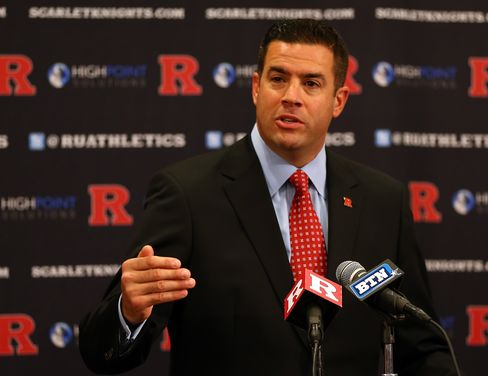 Outgoing Rutgers University Athletic Director Tim Pernetti